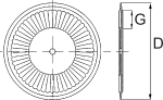 Plano de discos planos ondulados 1991 55 para sembradoras