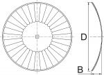 Disco cóncavo 1926 Terramax con 32 ondas para gradas de discos de Bellota Agrisolutions