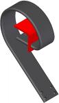 Brazos 2512 A para gradas de discos de bastidor de 60x60. Amarre mediante brida.
