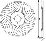 Discos ondulados AKER 1928 para sembradora de siembra directa