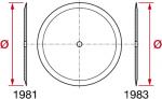 Discos planos 1981 para semeadora filo simples ou filo duplo